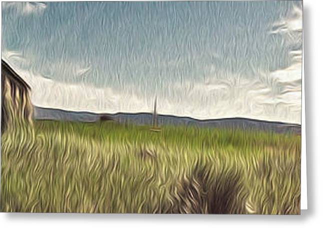 Idaho Panorama Greeting Card by Gregory Dyer