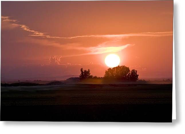 Idaho Sunset Greeting Card