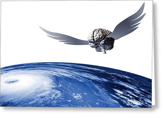 Idea Taking Flight, Conceptual Art Greeting Card by Laguna Design