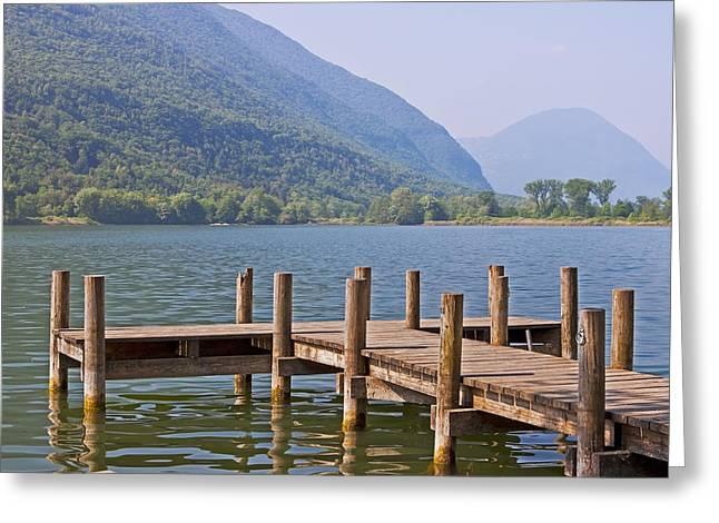 idyllic tarn in Italy Greeting Card