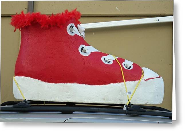 If The Shoe Fits Greeting Card by Randall Weidner