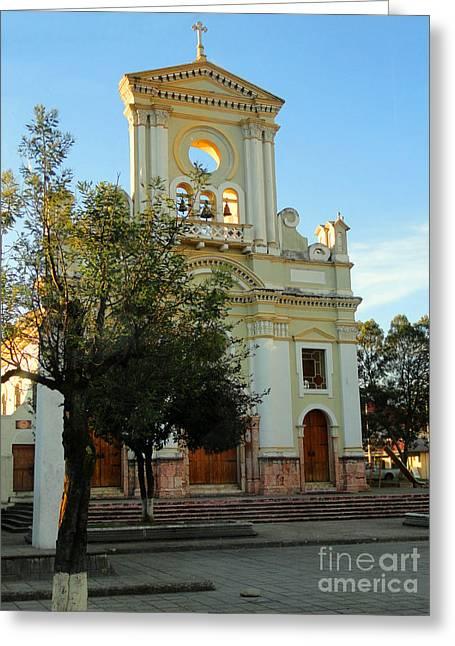 Iglesia De Fatima Greeting Card by Al Bourassa