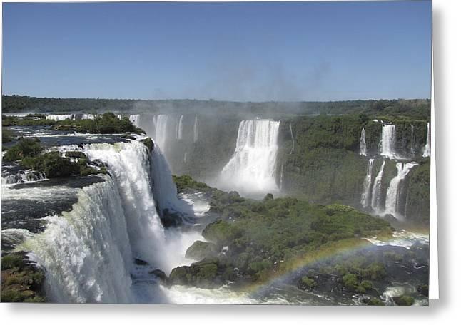 Greeting Card featuring the photograph Iguazu Falls by David Gleeson