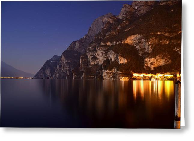 Il Lago Di Notte Greeting Card by Martina Fagan