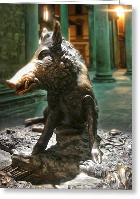 Il Porcellino - Florence Italy Boar Statue Greeting Card