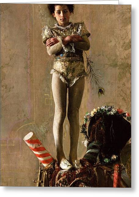 Il  Saltimbanco Greeting Card by Pg Reproductions