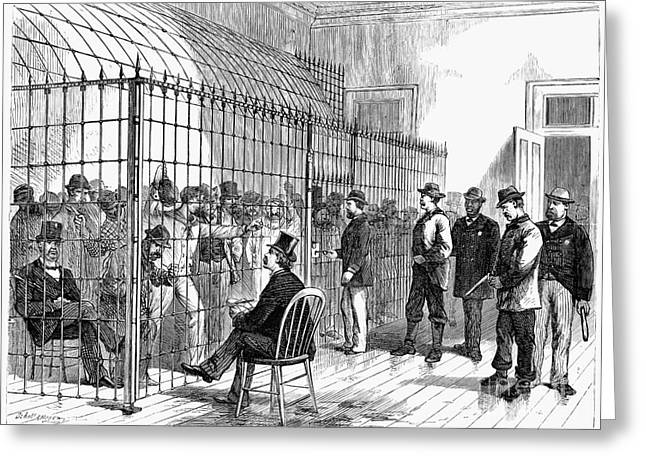 Illegal Voters, 1876 Greeting Card by Granger