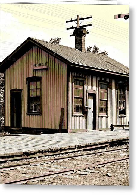Illinois Station At Cayuga 1903 Greeting Card by Padre Art
