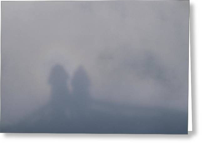 Illusion Known As Brocken Ghost Greeting Card