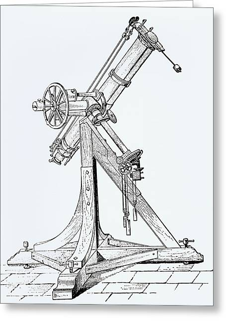 Illustration Showing Koenigsberg Heliometer Greeting Card by Dr Jeremy Burgess