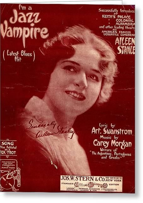 I'm A Jazz Vampire Greeting Card