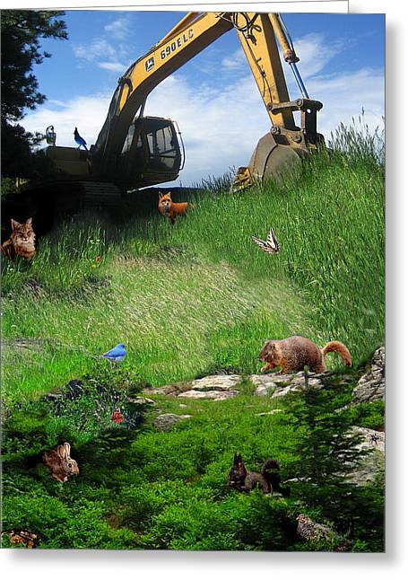 I'm A Steamroller Baby Gonna Roll Right Over You Greeting Card by Ric Soulen
