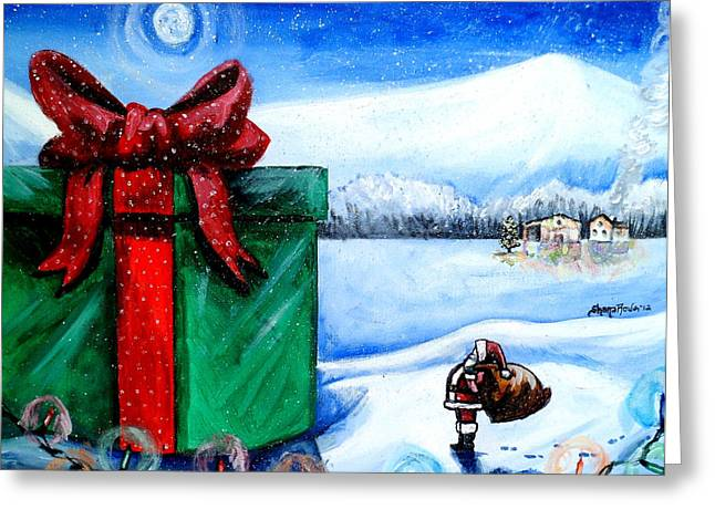 I'm Going To Need A Bigger Sleigh Greeting Card by Shana Rowe Jackson
