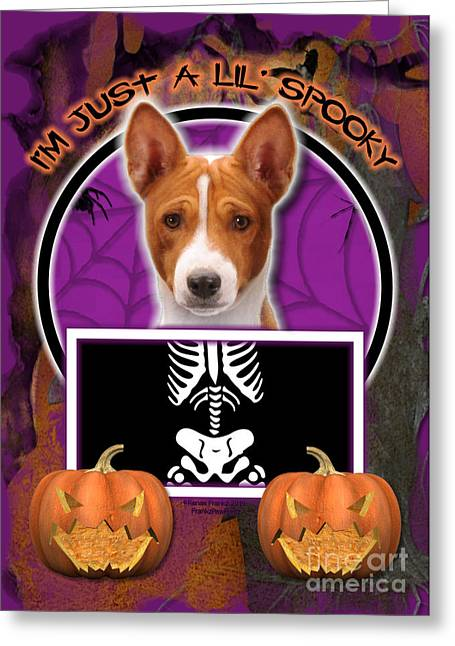I'm Just A Lil' Spooky Basenji Greeting Card