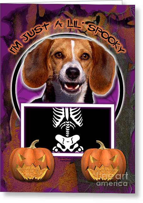 I'm Just A Lil' Spooky Beagle Greeting Card by Renae Laughner