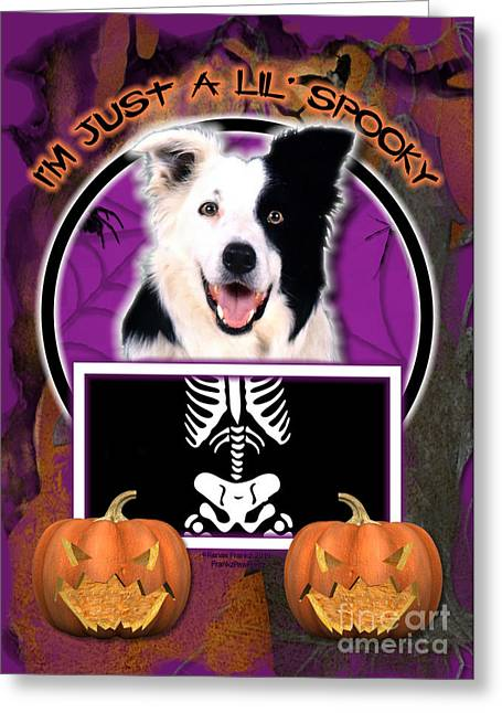 I'm Just A Lil' Spooky Border Collie Greeting Card by Renae Laughner