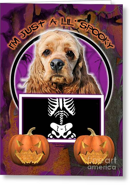 I'm Just A Lil' Spooky Cocker Spaniel Greeting Card by Renae Laughner