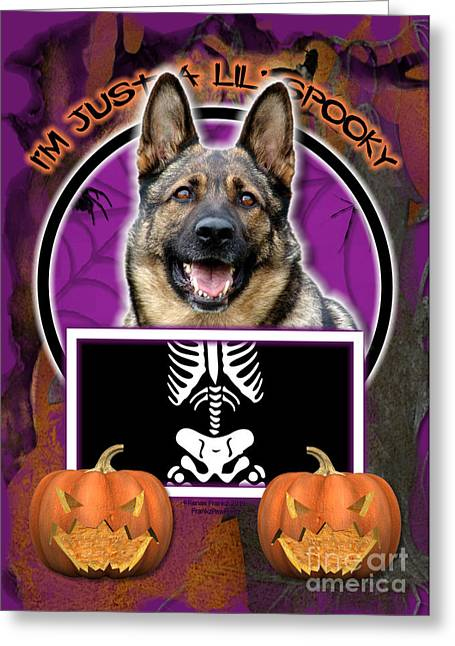 I'm Just A Lil' Spooky German Shepherd Greeting Card