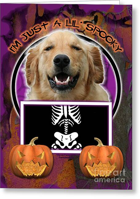 I'm Just A Lil' Spooky Golden Retriever Greeting Card by Renae Crevalle