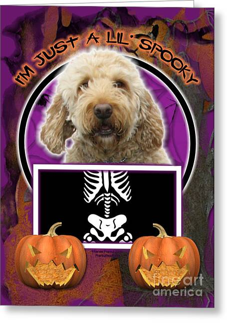 I'm Just A Lil' Spooky Goldendoodle Greeting Card