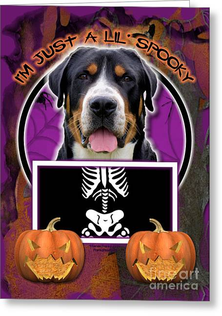 I'm Just A Lil' Spooky Greater Swiss Mountain Dog Greeting Card