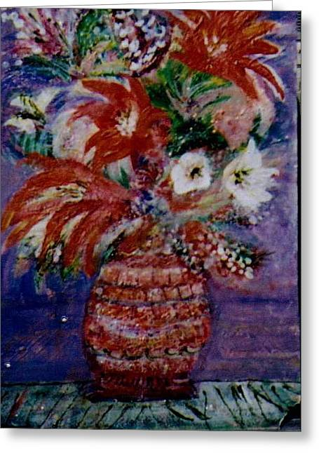 Imaginary Reds Greeting Card by Anne-Elizabeth Whiteway