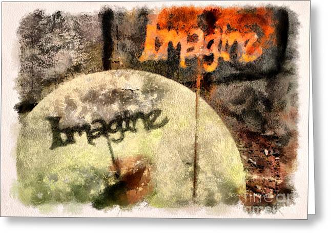 Imagine Greeting Card by Clare VanderVeen