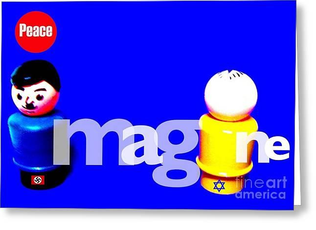 Imagine Peace Greeting Card by Ricky Sencion