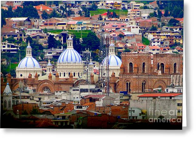 Immaculate Conception Domes II Greeting Card by Al Bourassa