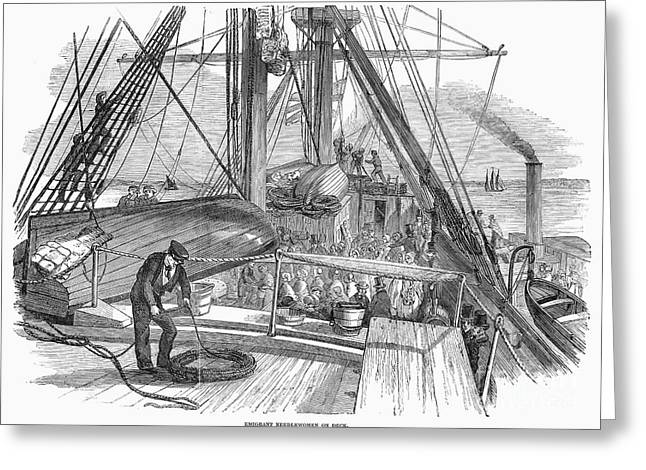 Immigrant Ship, 1850 Greeting Card