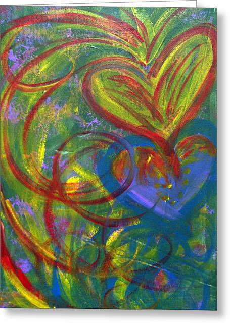 Impact Of Love Greeting Card by Bethany Stanko