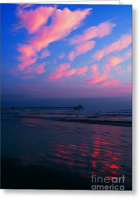 Imperial Beach At Dusk Greeting Card by Sabino Cruz