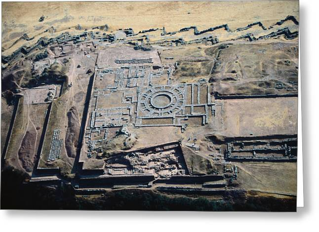 Imposing Incan Fortress Of Sacsayhuaman Greeting Card by Bobby Haas