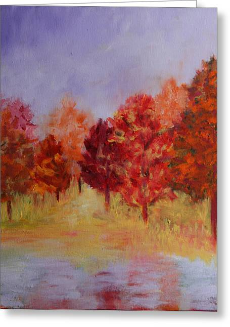 Impression Of Fall Greeting Card by Karin Eisermann