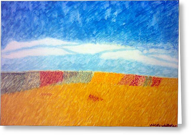 Impressionist Fields Greeting Card by Nicole whittaker