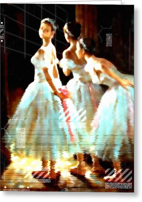 Impressions Of Modern Ballet Greeting Card