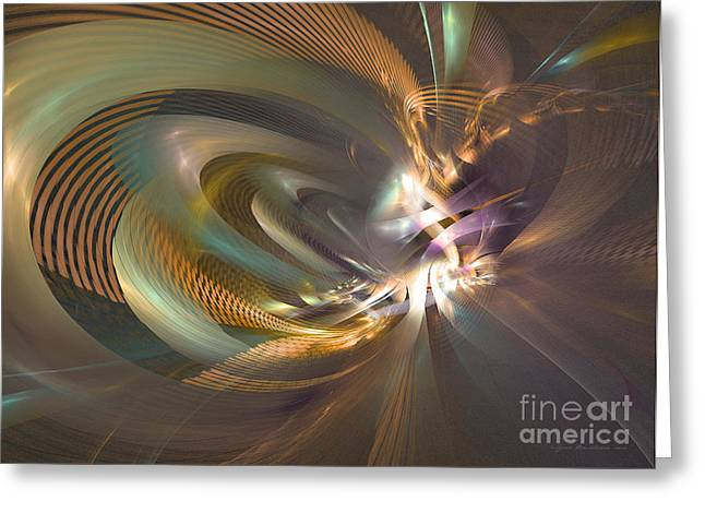 In A Fog - Fractal Art Greeting Card by Sipo Liimatainen
