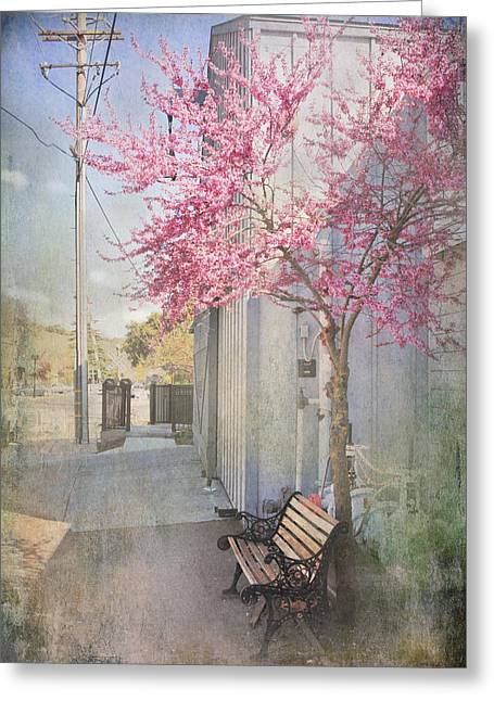 In A Small Town Greeting Card by Laurie Search