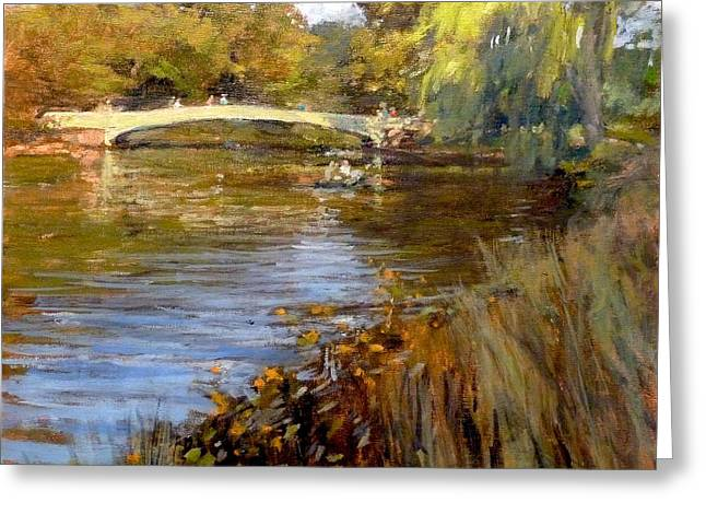 In Central Park - Summer Afternoon Near Bow Bridge Greeting Card
