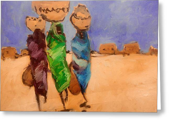 in Darfur 2 Greeting Card by Negoud Dahab