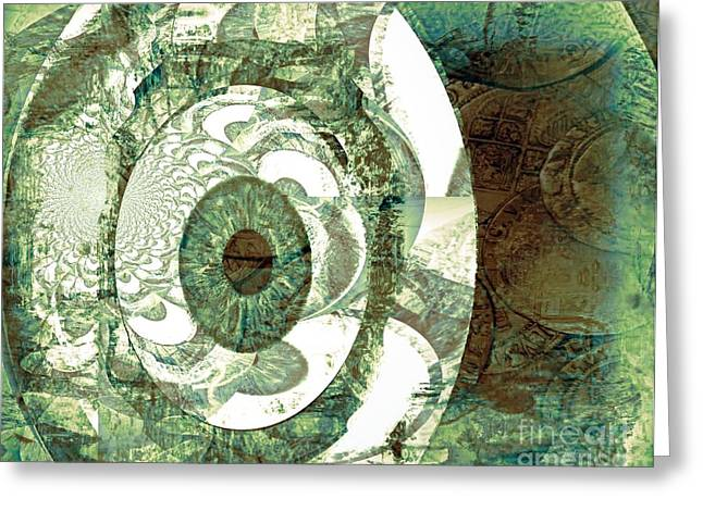 In God We Trust Greeting Card by Fania Simon