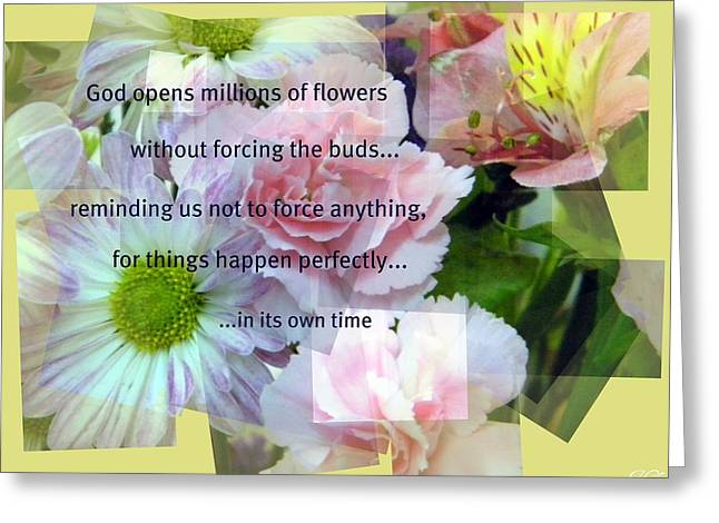 Greeting Card featuring the photograph In Life's Own Time by Michelle Frizzell-Thompson