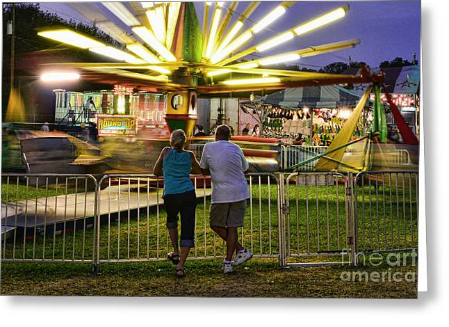 In Love At The Fair Greeting Card by Paul Ward