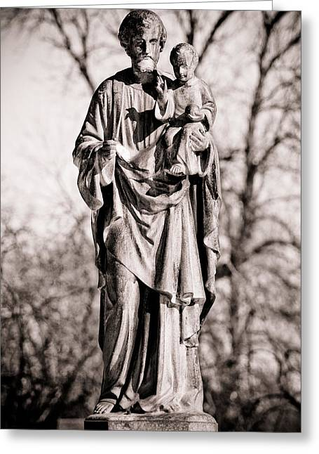 Jesus And Disciples Greeting Cards - In Nomine Patris Et Filii Et Spiritus Sancti Greeting Card by Joe Medina