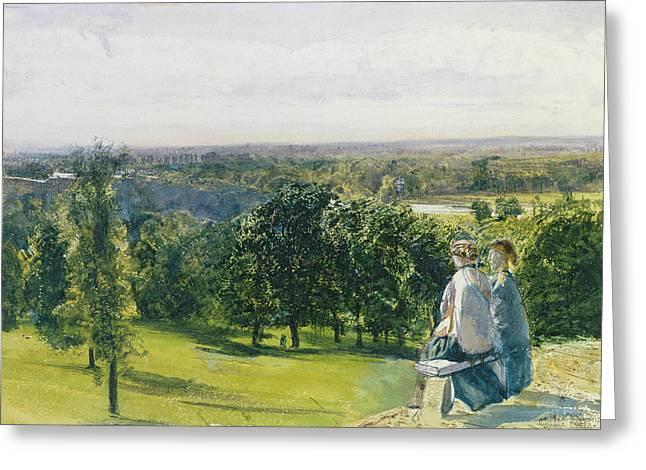 In Richmond Park Greeting Card by John William Inchbold