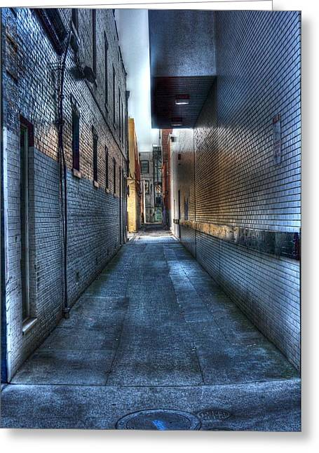 In The Alley Greeting Card by Dan Stone