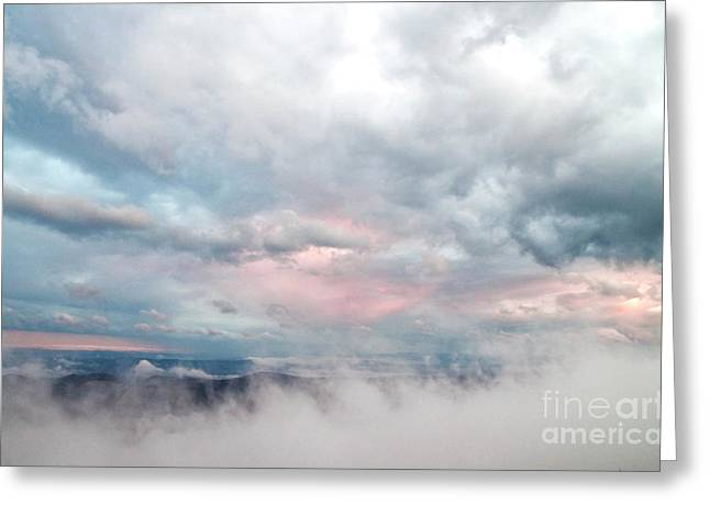 In The Clouds Greeting Card by Jeannette Hunt