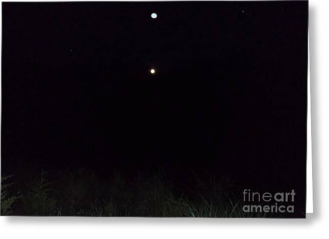 In The Company Of The Moon Greeting Card by Doug Kean