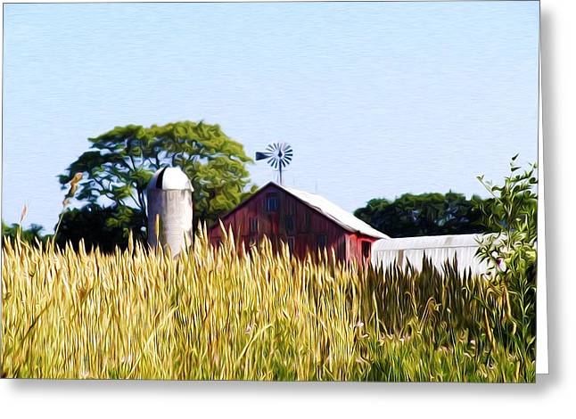 In The Farmers Field Greeting Card by Bill Cannon