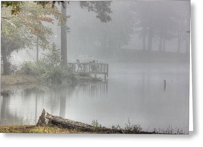 In The Fog Greeting Card by Barry Jones